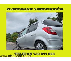Legalne złomowanie samochodów  - szybki odbiór Śląsk i Małopolska